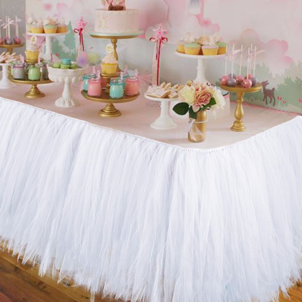 Wedding Party Tulle Tutu Table Skirt <font><b>Birthday</b></font> Baby Shower Wedding Table Decorations Diy Craft Supplies Hot Sale