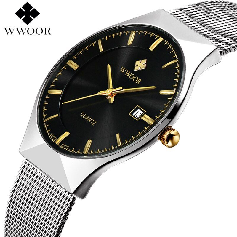 New Men Watches Top Brand Luxury 50m Waterproof Ultra Thin Date Clock Male Steel Strap Casual Quartz Watch Men <font><b>Wrist</b></font> Sport Watch