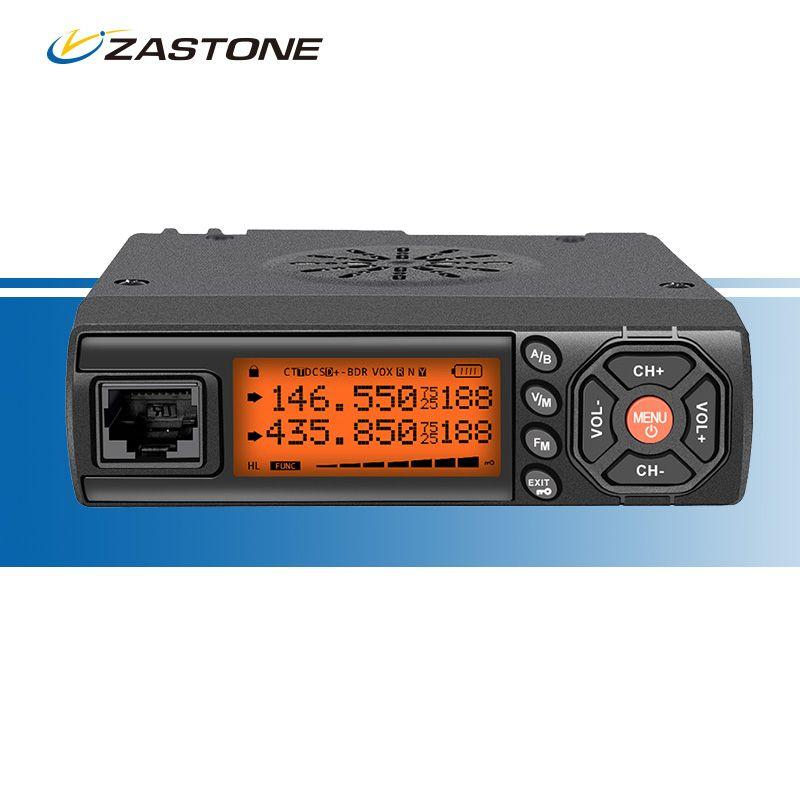 ZASTONE Z218 Mini Car Mobile Radio 25W Car Walkie Talkie 10KM VHF UHF 136-174MHz 400-470MHz Radio Communicator for Car Bus Taxi
