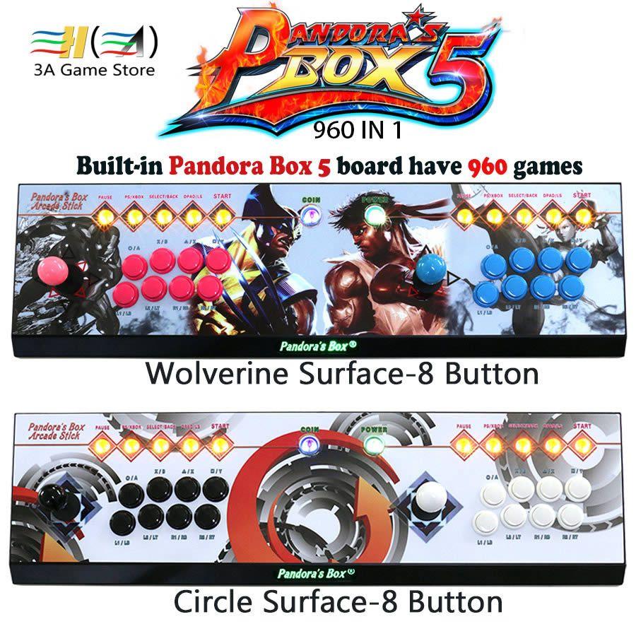 Büchse der Pandora 5 960 in 1 Konsole Neue 2 Spieler Jeder 8 Taste controle arcade joystick usb HDMI VGA Bis zu 720 P Controller