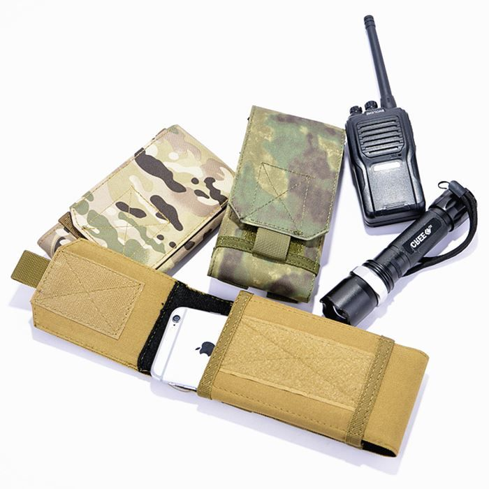 Outdoor Phone Case For Doogee BL5000 Universal Military Tactical Holster Belt Bag Waist For Caterpillar Cat S41 Gretel S55
