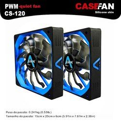 ALSEYE 120mm Refroidisseur (2 pièces) PWM 4pin Ventilateur pour Boîtier De L'ordinateur/CPU Refroidisseur/Eau De Refroidissement 12 V 500-2000 RPM Ventilateur Silencieux