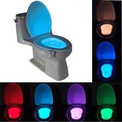 Elegante baño inodoro Nightlight LED movimiento activado On/Off asiento Sensor lámpara 8 WC Color caliente
