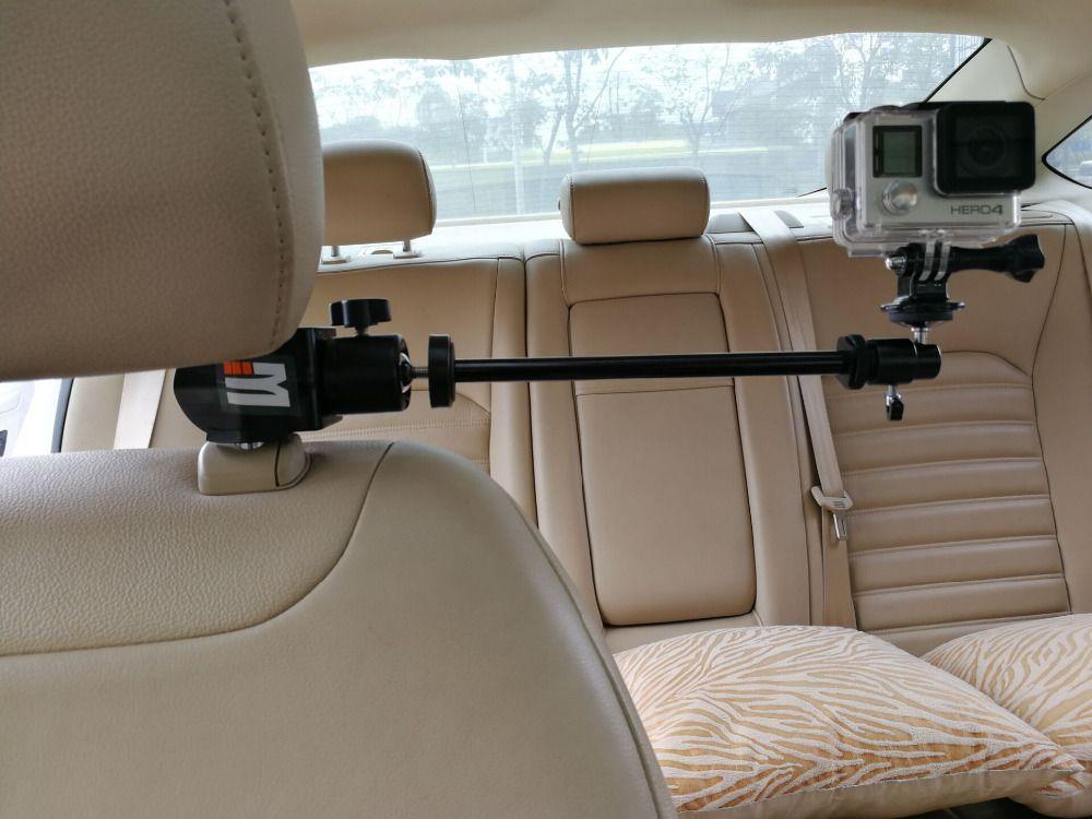 Support de fixation pour appuie-tête de voiture + adaptateur pour trépied pour caméra vidéo GoPro, caméscopes, DV, Smartphones SJCAM 456000 accessoires Xiaomi yi