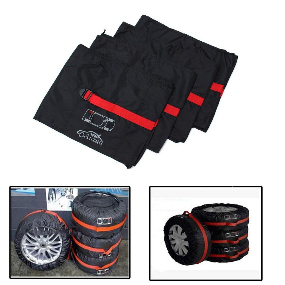 4PCs 16-20 Universal Car Spare Wheel Tyre Cover Protector Garage Case Auto Car Wheels Sun Shade Dust-Proof Accessories