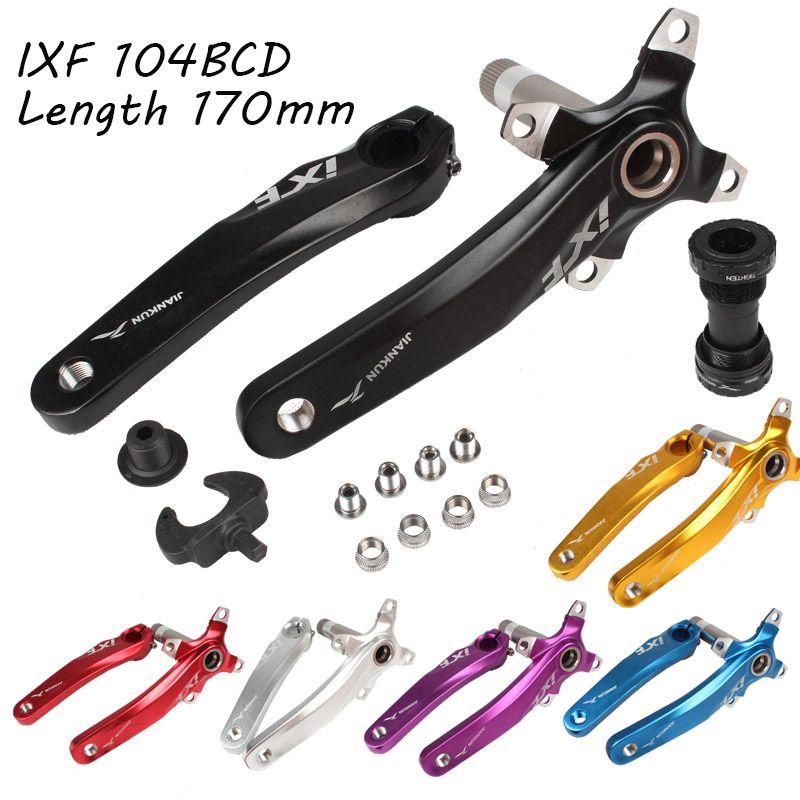 Ensemble de manivelle de vélo IXF 104 BCD CNC bras de manivelle sans lumière vtt/vélo de route pédalier avec manivelle BB pour accessoires de vélo pièce de vélo