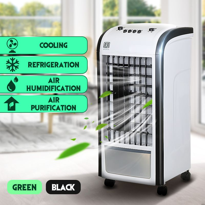 60W 220V Evaporative Air Cooler Fan Portable Handle Desk Electric Fan Mini Air Conditioner Device Cool Soothing Wind Home