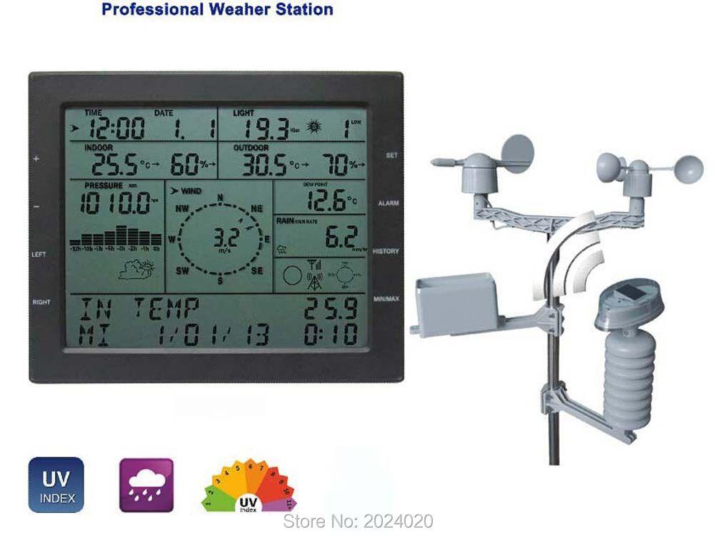 MISOL/station météo professionnelle/vitesse du vent direction du vent pluie compteur pression température humidité UV