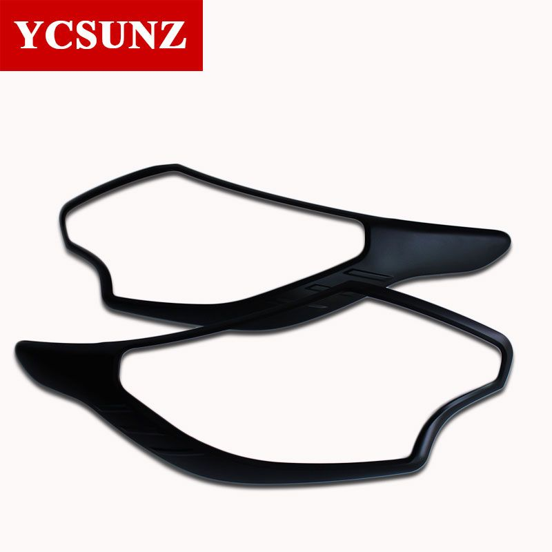 2017 ABS Car Strips Trim For Mitsubishi L200 Triton Pick Up Accessories Matte Black Headlamp Cover For Mitsubishi L200 Triton