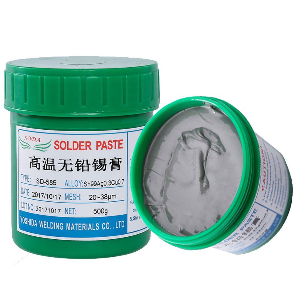 Heißer verkauf Neueste Hohe Temperatur Solde Paste 500g Blei-Freies Null Halogen Solder Paste SD-585 Für BGA Löten sn99Ag0.3Cu0.7