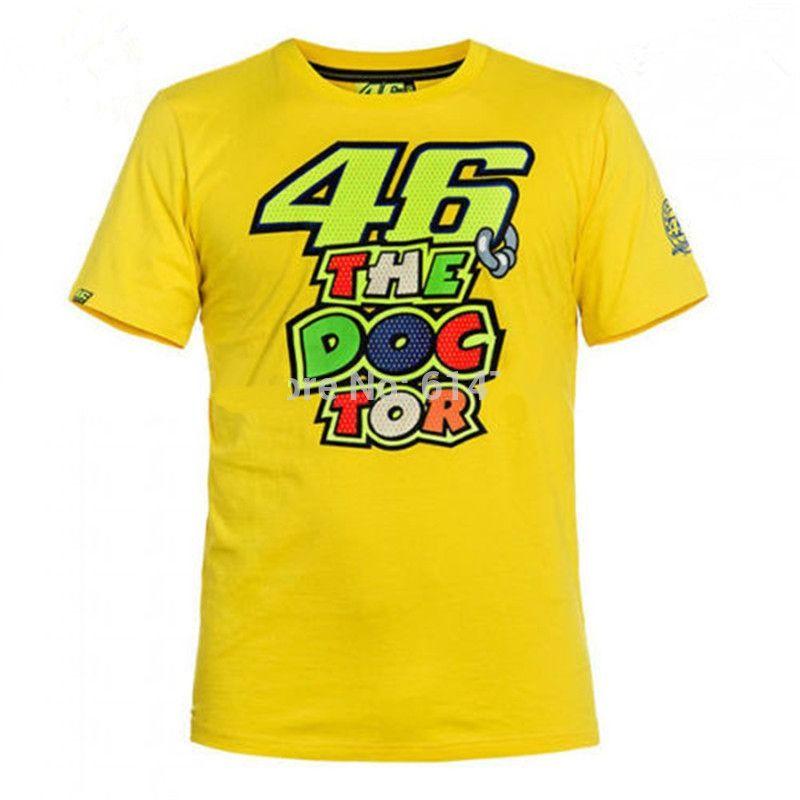 2016 New Summer Motogp Mode VR46 Rossi VR46 T-Shirt Forty six Moto T-Shirt Moto GP fans T Cotton