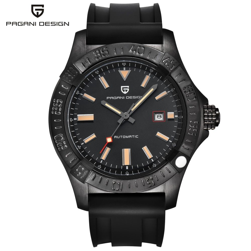 Automatische Lederband Business Wist Uhr PAGANI DESIGN Marke Mechanische Uhr Männer Männlichen Uhr Relogio Masculino