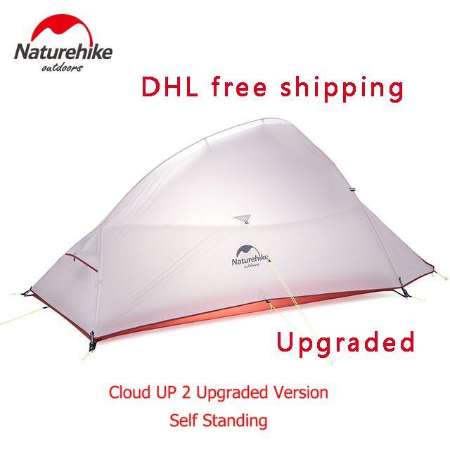 Naturehike Новая бесплатная самостоятельным 2 человек Сверхлегкий Открытый Палатка облако до 2 обновлен 20D силиконовым ткань