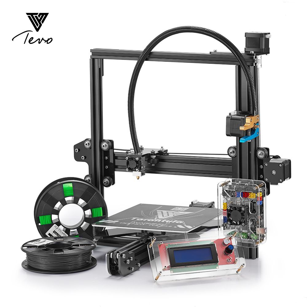 2017 Impresora 3D TEVO Tarantula 3D Printer Diy Single & Dual Extruder 3D Printer Kit With Titan extruder &2 Rolls Filament