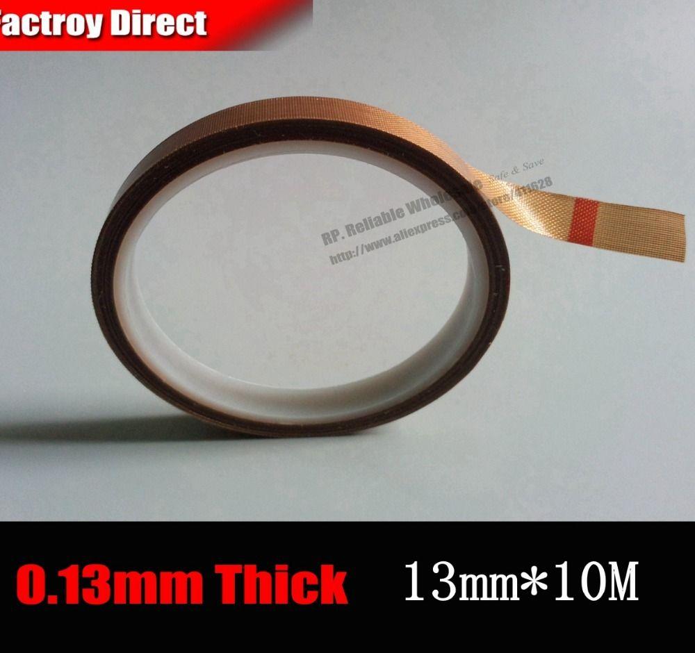 (13mm * 10 metros * 0.13mm) Cinta Adhesiva de Teflón PTFE de Alta Temperatura Resistencia de Aislamiento, Máquina De Sellado caliente Estera