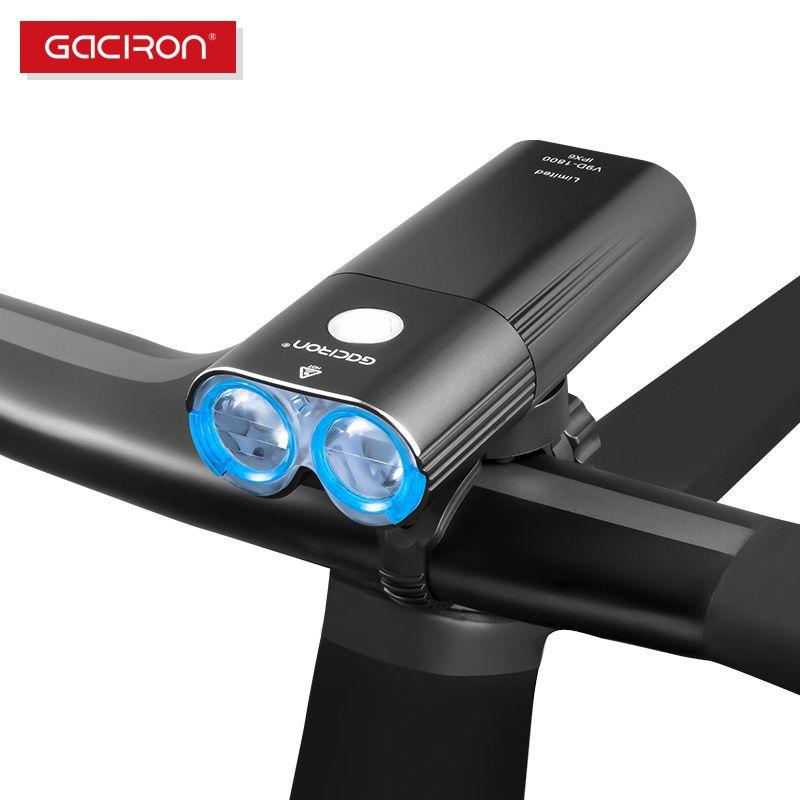 GACIRON Wasserdichte IPX6 Bike Lichter Fahrrad 1800 lumen Radfahren LED Scheinwerfer Fernbedienung Schalter Lampe USB Aufladbare Front Lichter