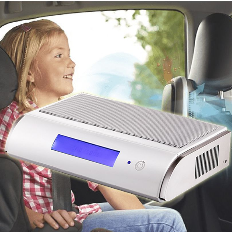 Coronwater Car Air Purifier GL-518 HEPA Activated Carbon Photocatalysis UV Anion Ozone Air Filter