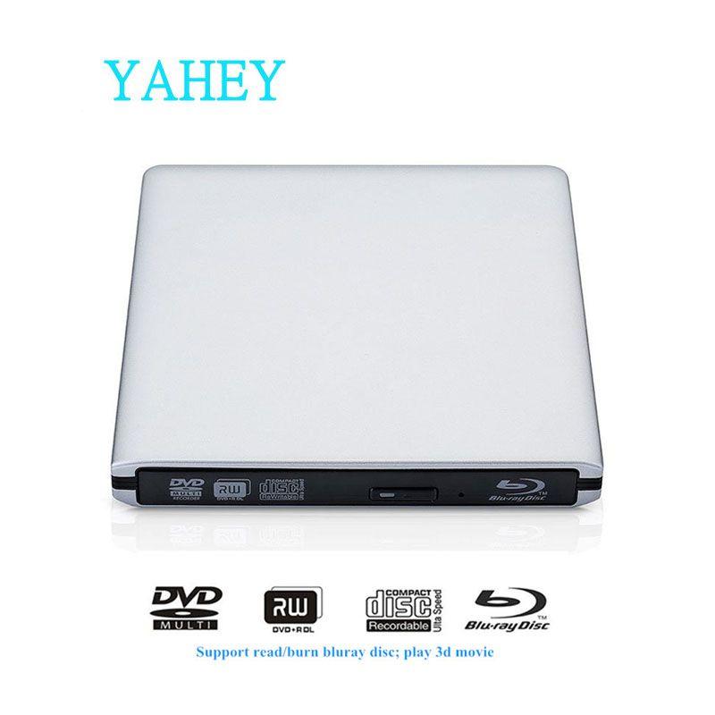 USB 3.0 Bluray Drive BD-RE Burner External DVD-RW/RAM Writer Blu-ray CD/DVD-ROM 3D Player Superdrive for Laptop Apple Macbook PC
