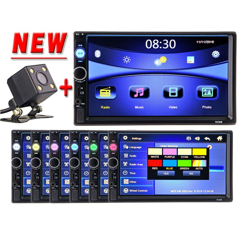 2 Din Auto multimedia-Video-Player Touchscreen Bluetooth Stereo Radio FM MP3 MP4 MP5 Audio Musik USB TF Auto Elektronik 2din