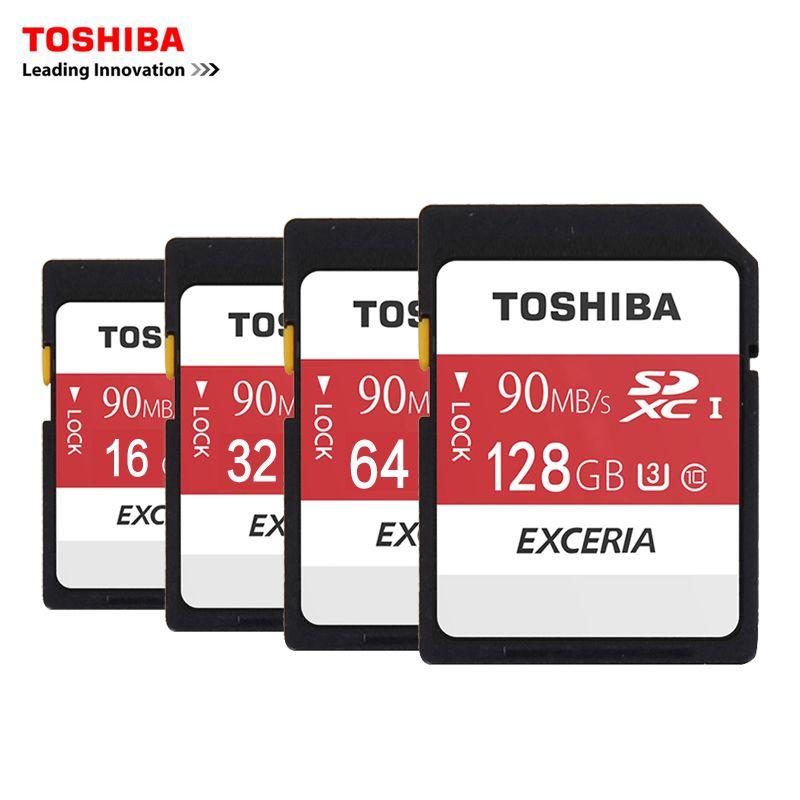 Toshiba SD Memory Card UHS U3 128Gb 90MBs 600x 32GB SDHC Card SD 64GB SDXC Card Flash 16G U1 For Digital SLR Camera Camcorder DV