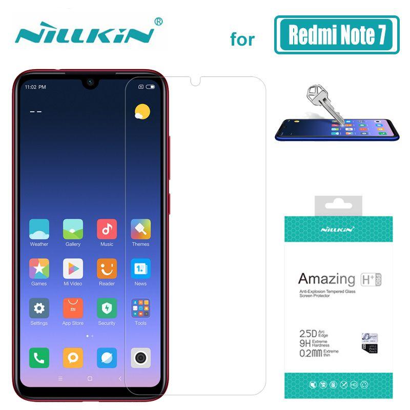 Pour Xiaomi Redmi Note 8 7 6 5 Pro verre Nillkin 9H + Pro verre trempé protecteur d'écran pour Xiaomi Redmi Note 8 7 6 5 Pro verre