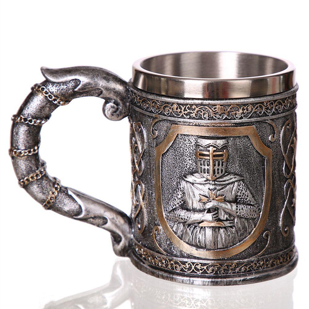 3D Viking Crâne Café Chope Chope de bière Personnalisé D'origine Crâne Tasse pour Home Bar Bière Vin Boisson Cadeau pour Hommes café Tasse