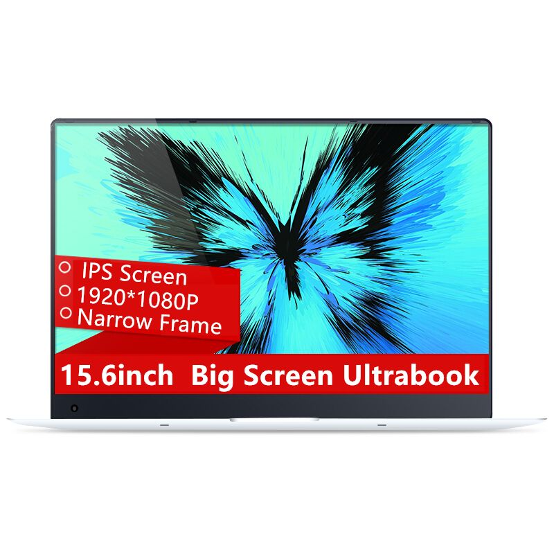 15.6inch 4GB Ram 64GB eMMC Windows 10 System 1920X1080P FHD IPS Screen Intel Atom Z8350 Quad Core Laptop Notebook Computer
