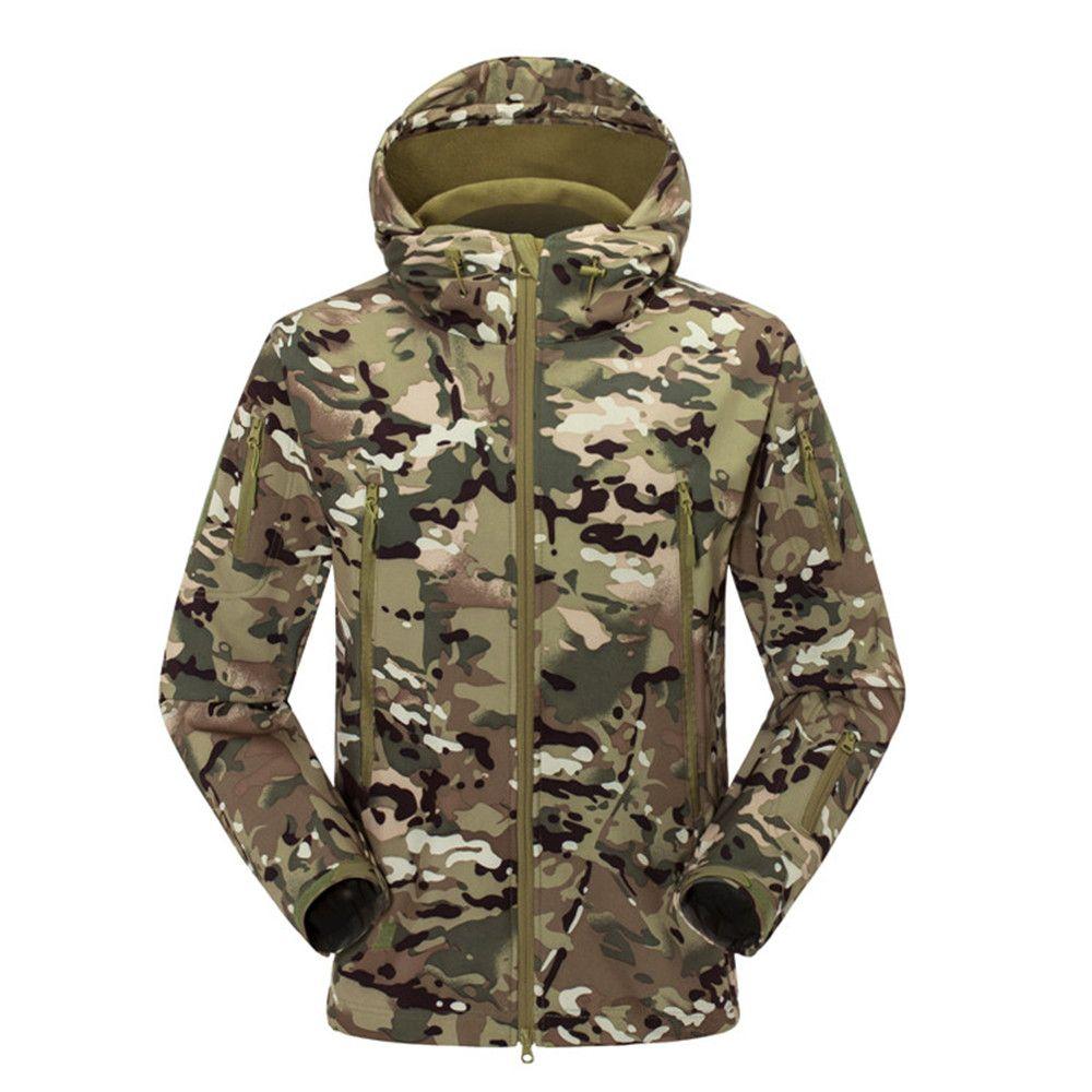 Männer Frauen Outdoor-jacke Camouflage Softshell-bekleidung Militärische Taktische Jacke Camping Wandern Jacken Camo Sport Mäntel