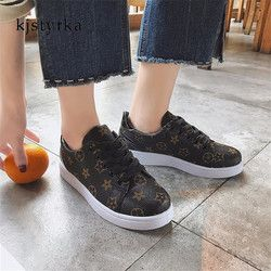 Kjstyrka 2018 Printemps Automne femmes dames Casual Sneakers tenis feminino Chaussures de Marche Classique brun zapatos mujer