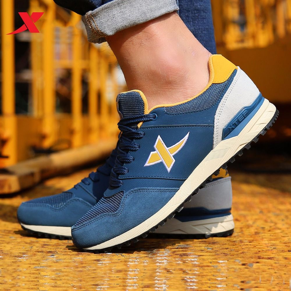 XTEP Brand 2017 hot Men's Retro Sport Shoes Athletic Shoes Men's Sneakers <font><b>Running</b></font> Shoes for Men free shipping 987319112536