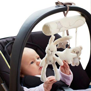Кролик детская подвесная кровать безопасности сиденье плюшевая игрушка, ручной Колокольчик многофункциональная плюшевая игрушечная коля...