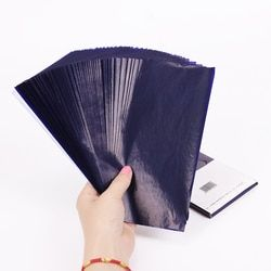 50PCS Blue Double Sided Carbon Paper 48K Thin Type Stationery Paper Finance Office Supplies