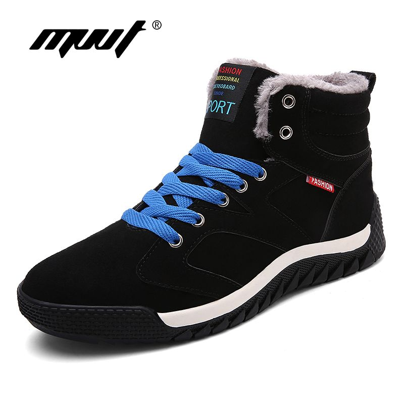 MVVT Super Warm Winter Shoes Men Casual Shoes With Fur Keep Warm Snow Shoes Suede Outdoor zapatos hombre