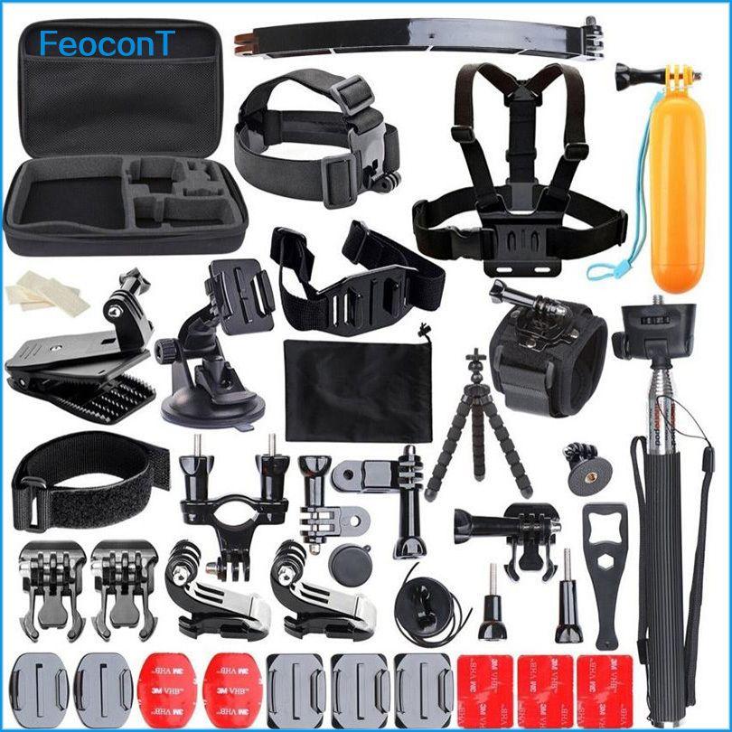 Camera Action Accessoires Ensemble Strap Mount Head Poitrine Pour Sony Action Cam Go Pro Hero 6 5 Cas Yi 4 k Accessoires Pour Sjcam Gopro