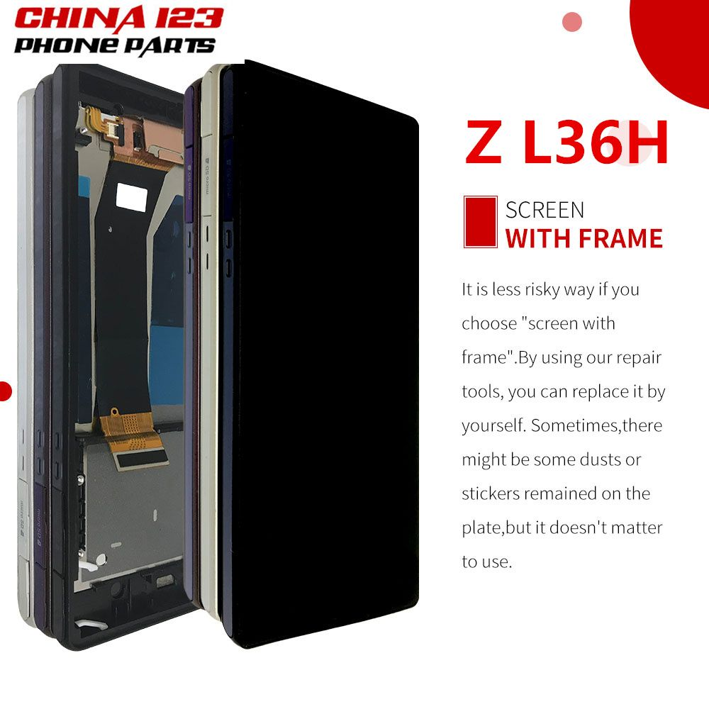 ORIGINAL Display For SONY Xperia Z LCD Touch Screen Digitizer With Frame For SONY Xperia Z LCD L36H C6603 C6602