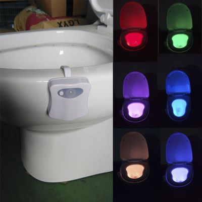 NEW 1pcs Motion Activated Toilet Nightlight Only activates in darkness  Christmas decorations