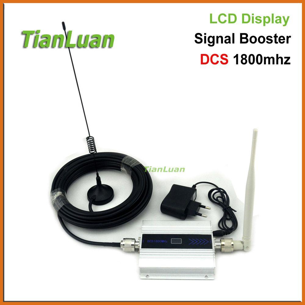 TianLuan 2G DCS 1800 MHz Mobile Phone Signal Booster 4G 1800 MHz Répéteur de Signal Amplificateur de Téléphone portable avec Fouet/Sucker antenne