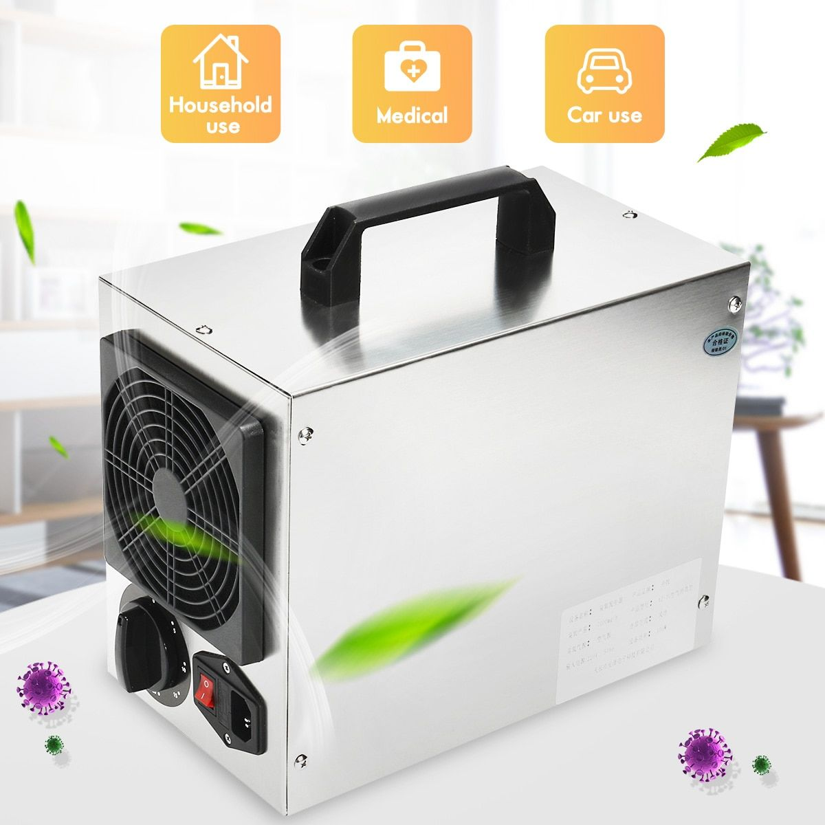 220 v/110 v Hause Kommerziellen Ozon Generator 7 gr/std O3 Air Purifier Deodorizer Luft Reiniger Für Krankenhaus Fabrik AU Stecker