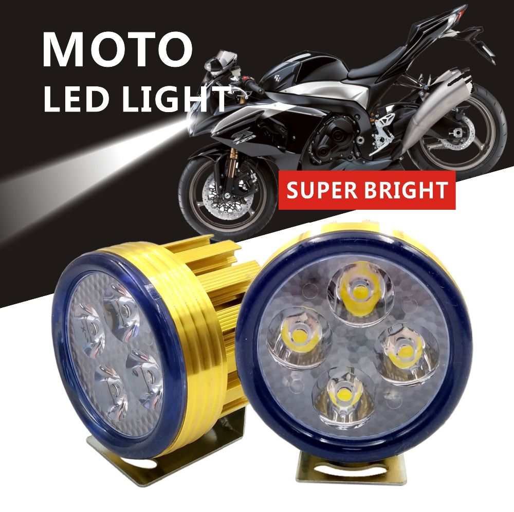 2Pieces Motorcycle LED Headlight 10W 3200LM U5 Waterproof AUto Driving Spot Head Lamp Fog Light farol Moto Accessories 12V 6000K