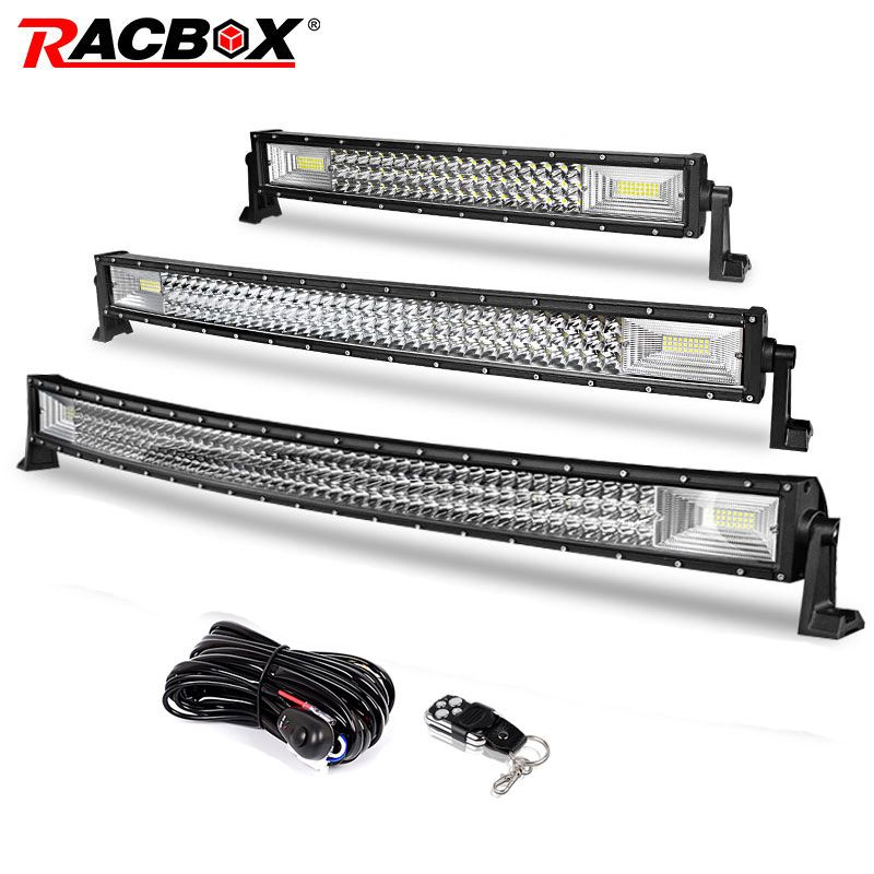 22 32 42 inch Offroad LED Light Bar 324w 459w 594w Flood Spot Combo Beam for Jeep 4x4 ATV 4WD Truck SUV 12V 24V LED Work Light