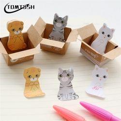 3D dibujos animados kawaii scrapbooking gato perro caja Adhesivos lindo Corea papelería notas adhesivas Oficina cojín de nota
