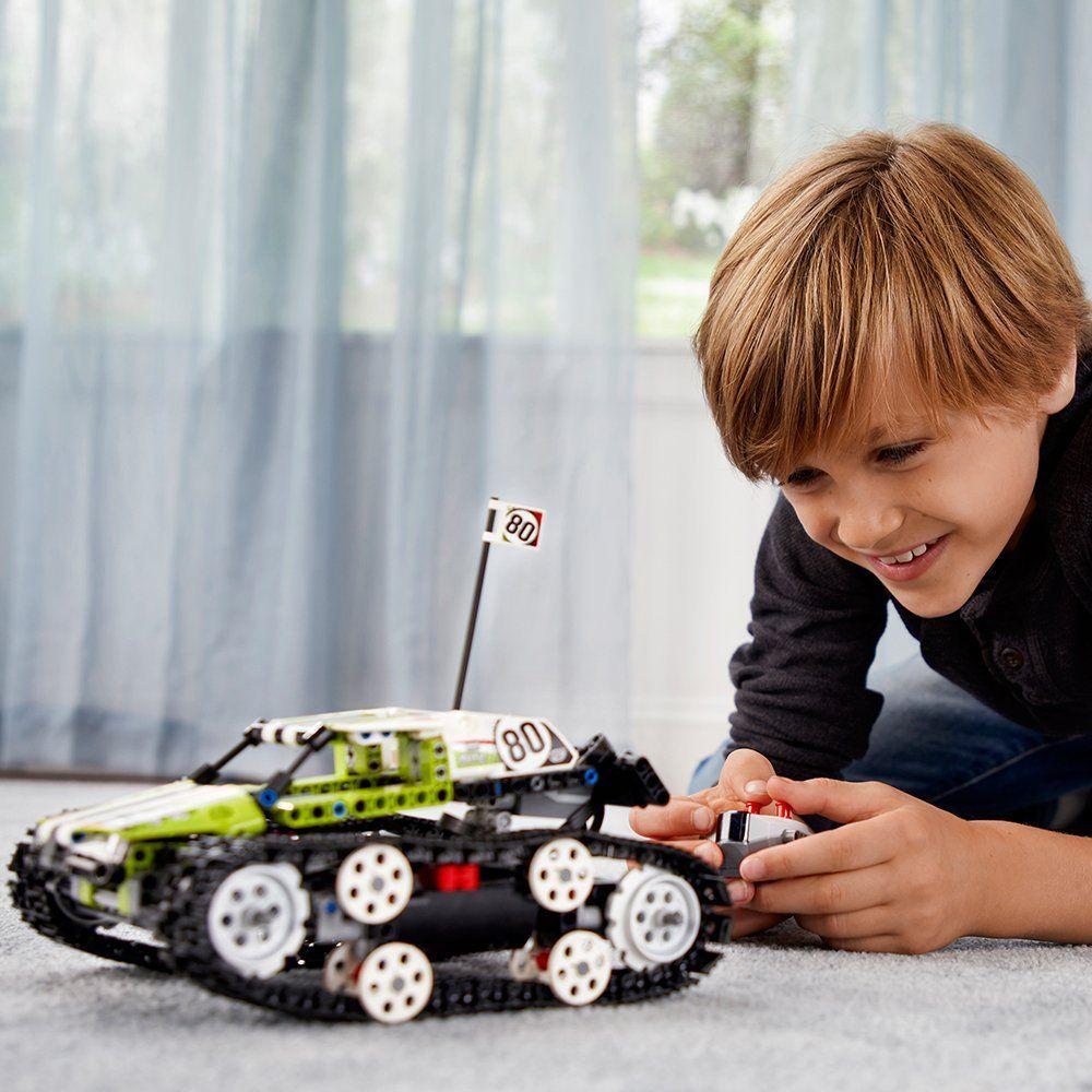 legoments Technic Series The RC Track Remote-control Race Car Set Building Blocks Bricks Educational Toys
