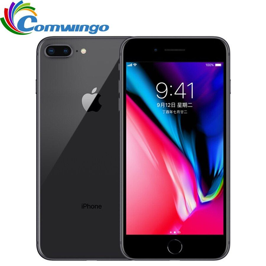Original Unlocked Apple iphone 8 Plus 5.5 inch RAM 3GB ROM 64G Hexa Core 12MP 2691mAh iOS LTE Fingerprint iphone8p Mobile Phone