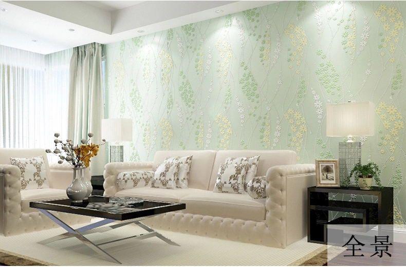 Estilo rústico pequeña flor de Pared Rollo De Papel Papel Pintado No Tejido Verde Home Decor Wallpaper para Paredes Papel Pintado