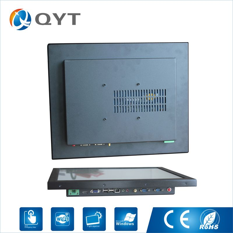 17 Industrial All In One Pc Intel j1900 Fanless Noiseless Panel Pc with 2GB RAM 32G DDR3 Resistive Touch Resolution 1280x1024