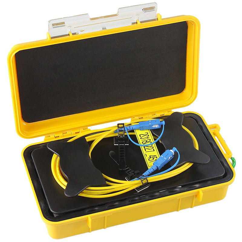 Free shipping SC/UPC OTDR Dead Zone Eliminator,Fiber Rings ,Fiber Optic OTDR Launch Cable Box 1km SM 1310/1550nm