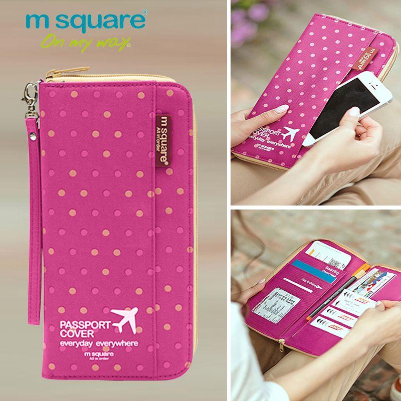 M Square Passport Cover Travel Wallet Document Passport Holder <font><b>Organizer</b></font> Cover on The Passport Women Business Card Holder ID