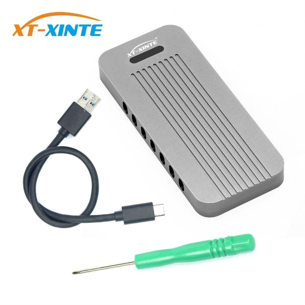 Aluminum NVMe PCIE USB3.1 HDD Enclosure M.2 to USB SSD Hard Disk Drive Case Type C 3.1 M KEY Connector HDD Box for Desktop PC