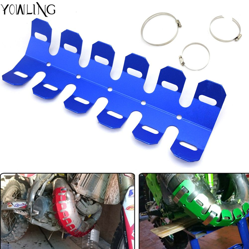 Motorcycle Exhaust Muffler Pipe Leg Protector Heat Shield Cover For KTM SX / XC 65 85 105 150 250 300 400 450 525 EXC Husaberg