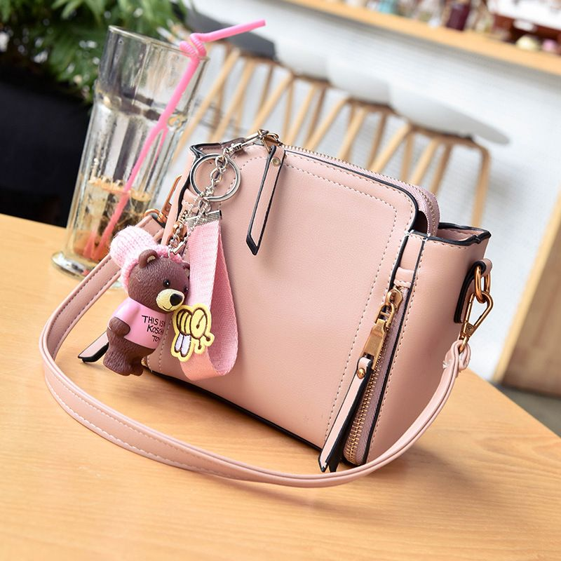 PU leather princess women coin purse wallet kids crossbody money pouch phone bag bolso mujer bolsa carteira feminina for girls